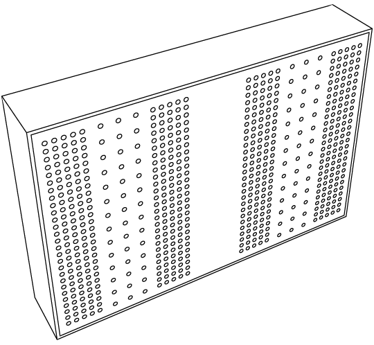 Micro-perforated diffusor